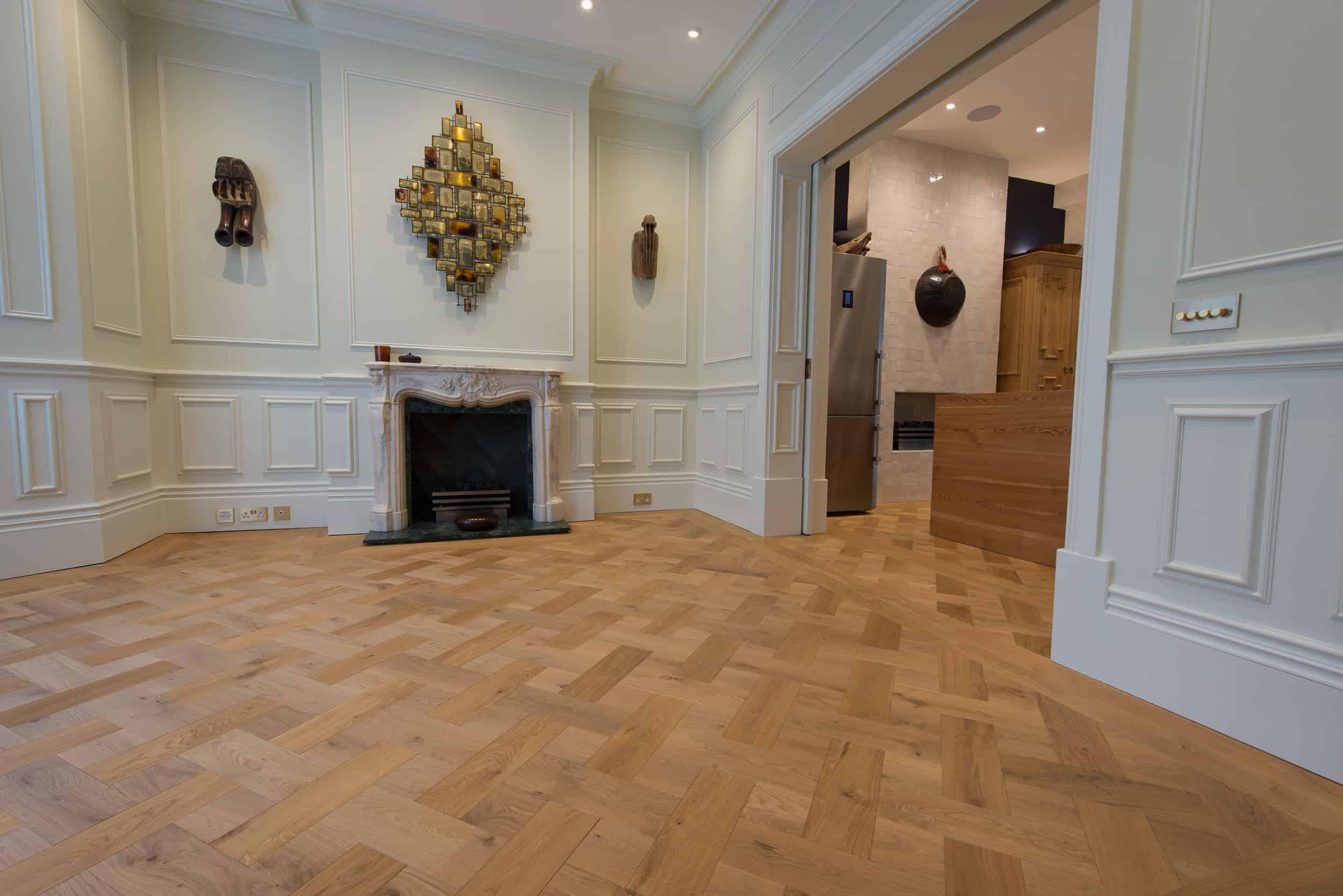 Basket weave Oak flooring