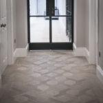 mansion weave oak parquet flooring in hallway