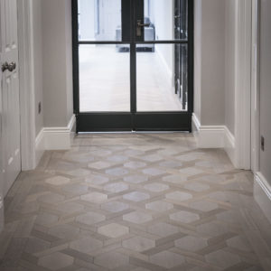 mansion weave oak parquet flooring in hallway