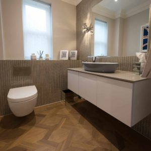 Meribel Oak mansion weave parquet