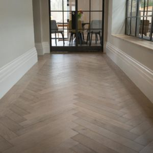 Dominica Grey Oak Herringbone Flooring