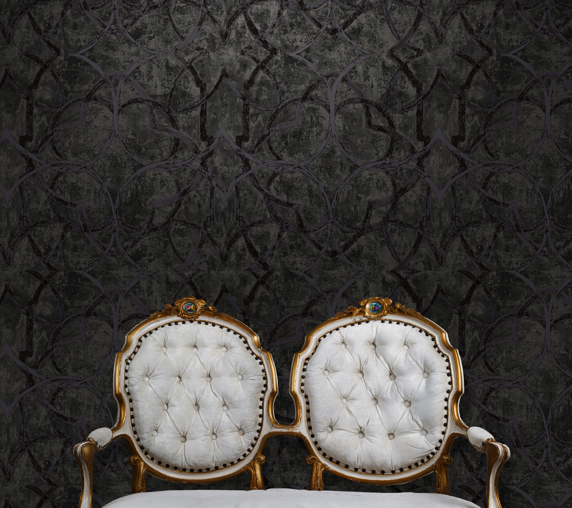 MetalSilk Gothic Wallpaper