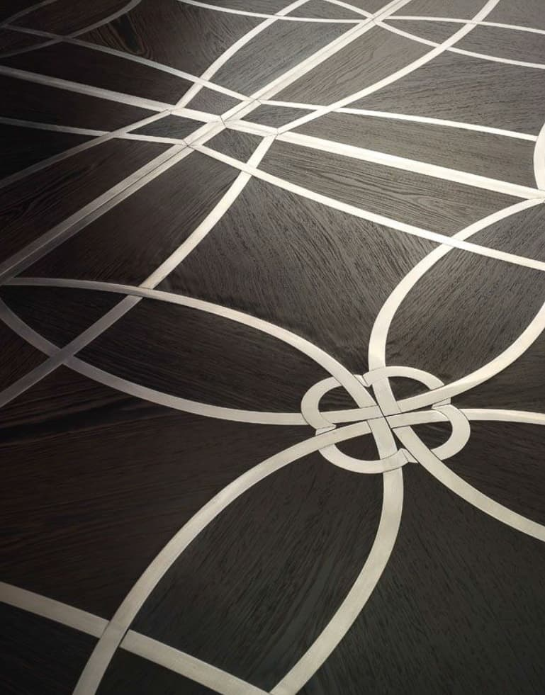 Marquetry Panel with metal inlay