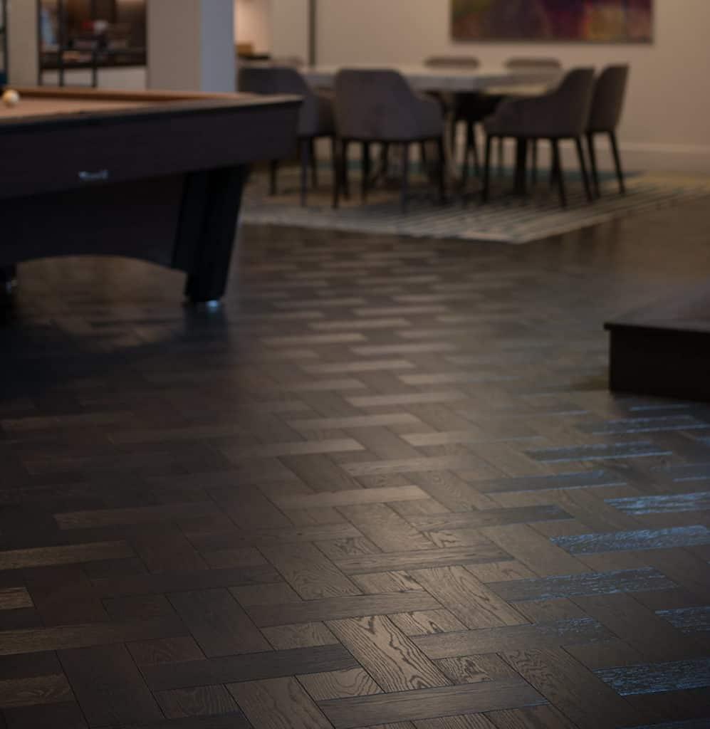 Dark Wood Floors - basket weave oak