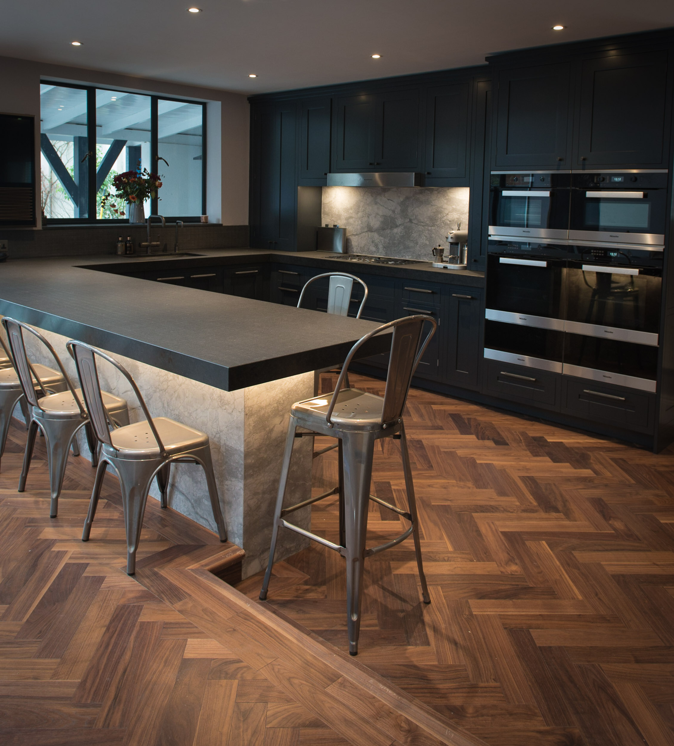 American Walnut Herringbone Flooring
