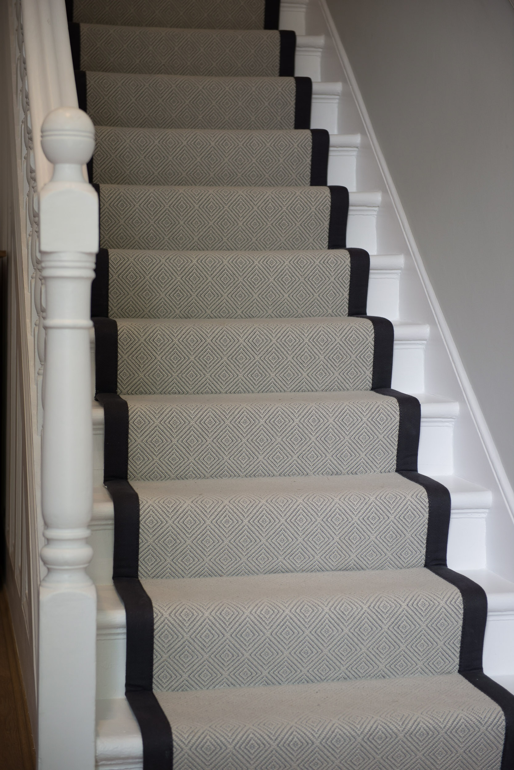 Wool Paragon Runner with blue cotton Border