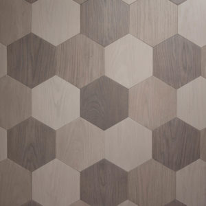 3 colour hexagon parquet