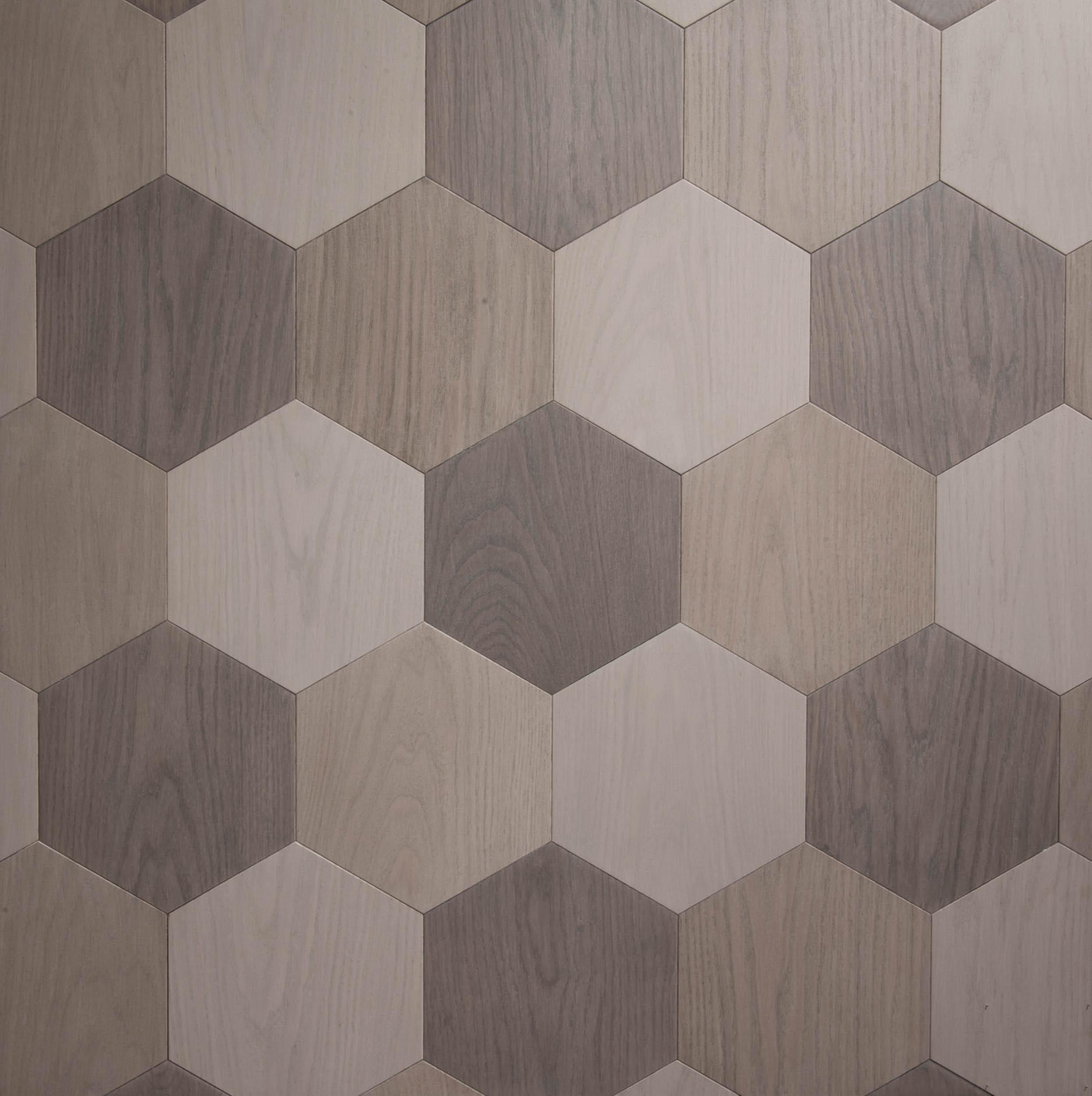 3 colour hexagon parquet