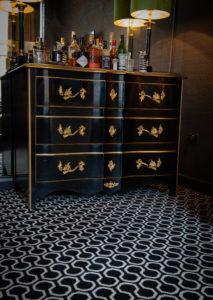 Quirky B Honeycomb Black Carpet