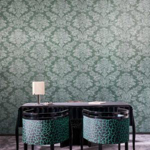 Damask Wallpaper Metal X