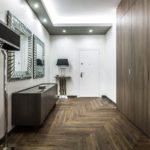 Aperto herringbone hallway
