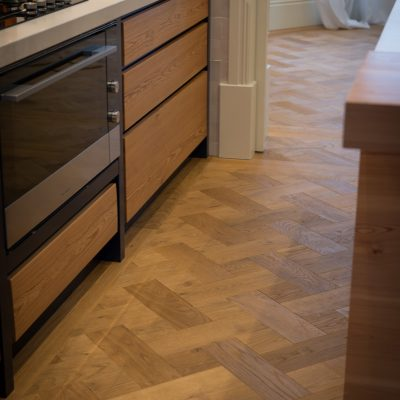 Oak Basketweave Brushed Oiled
